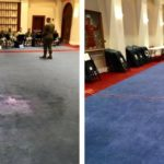 before and after carpet dyeing